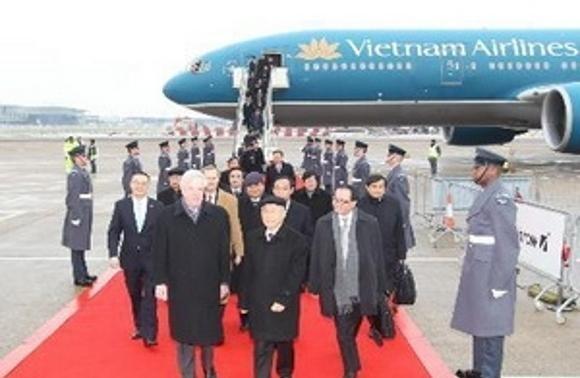 Tổng bí thư Nguyễn Phú Trọng kết thúc thăm một số nước Tây Âu