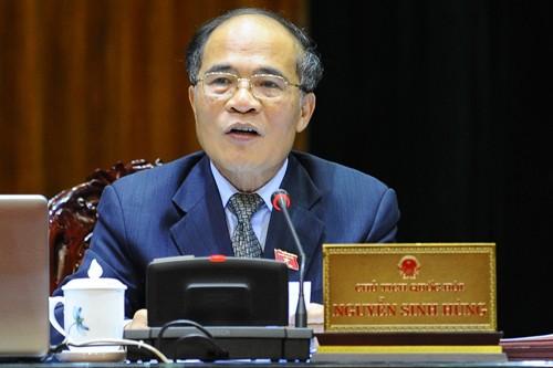 Chủ tịch Quốc hội Nguyễn Sinh Hùng tiếp đại sứ Cộng hòa Nhân dân Trung Hoa