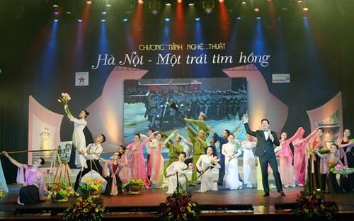 В Ханое прошла художественная программа в честь 62-й годовщины со Дня освобождения столицы