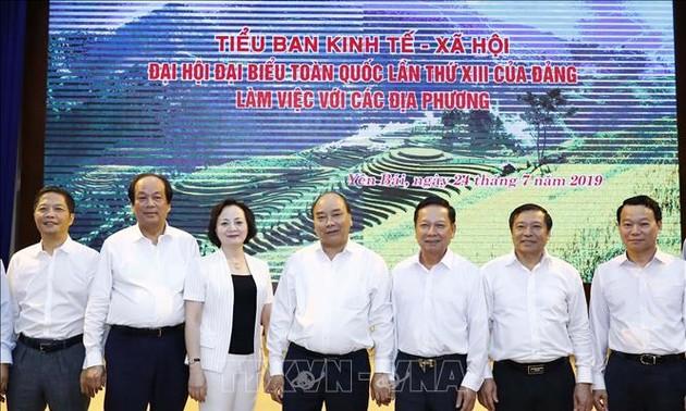 Нгуен Суан Фук провел рабочую встречу с местными властями на севере страны по социально-экономическому развитию