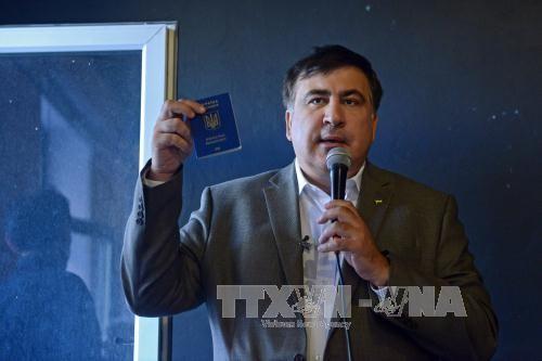 Ukraina menangkap mantan Presiden Gruzia