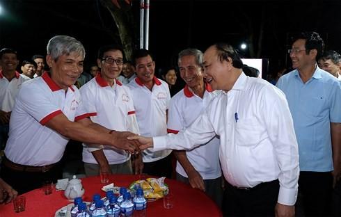 PM Vietnam, Nguyen Xuan Phuc mengunjungi pola ruang pertemuan kaum tani Provinsi Dong Thap