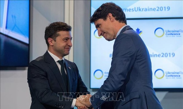 Presiden Ukraina, Volodymyr Zelensky mengunjungi Kanada untuk mendorong kerjasama pertahanan