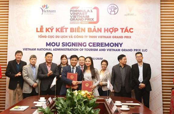 Bekerjasama menyosialisasikan dan mempromosi pariwisata Vietnam yang dikaitkan dengan Turnamen Formula 1