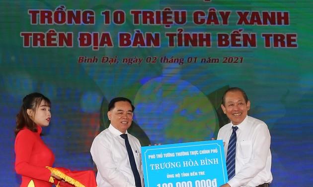 Provinsi Ben Tre Mencanangkan Penanaman 10 Juta Pohon Hijau dari Sekarang sampai Tahun 2025