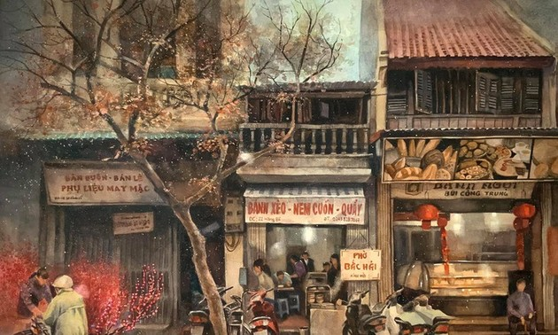 Pandangi Koleksi Lukisan Teramat Indah tentang Kota Ha Noi yang Dilukiskan dengan Rasa Cinta Pelukis di Kota Ho Chi Minh