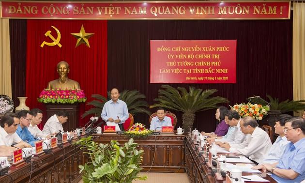 PM Nguyen Xuan Phuc melakukan temu kerja dengan pemimpin Provinsi Bac Ninh