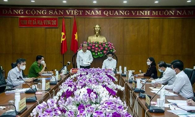 Deputi PM Truong Hoa Binh Periksa Pencegahan Wabah Covid-19 di Provinsi Ba Ria-Vung Tau