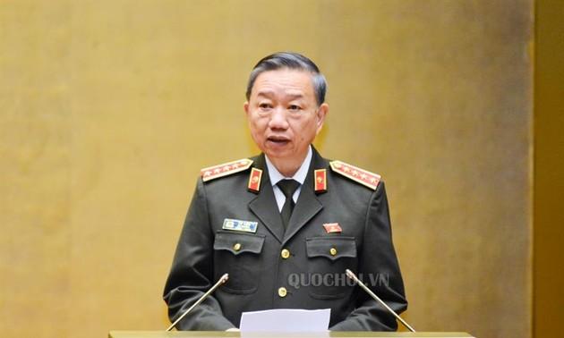 Polizeiminister To Lam: Gewährleistung der politischen Stabilität, der nationalen Sicherheit und der sozialen Ordnung