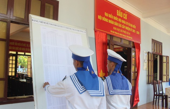 쯔엉사(Trường Sa)군도의 조기 투표