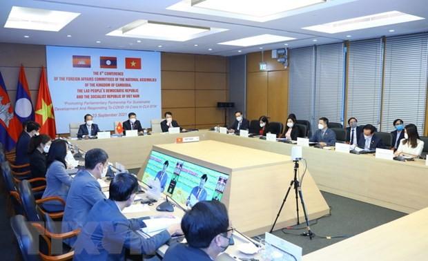 Komsi Urusan Luar Negeri Majelis Nasional Tiga Negara Kamboja, Laos dan Vietnam Keluarkan Pernyataan Bersama yang Serukan Pembagian Vaksin Lawan COVID-19