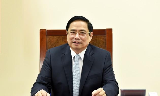 越南政府总理范明政与法国总理通电话