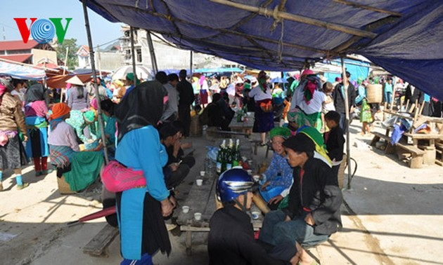 Dong Van market attracts foreign tourists