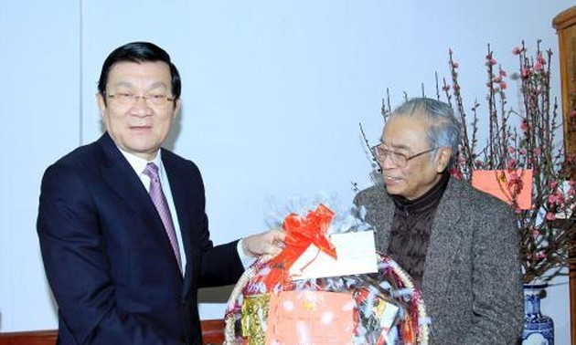 President Truong Tan Sang extends Tet wishes