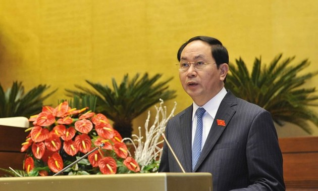 President Tran Dai Quang meets prominent Vietnamese businesspeople