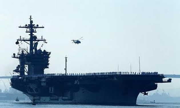 Japan started joint drill with US in the Pacific Ocean