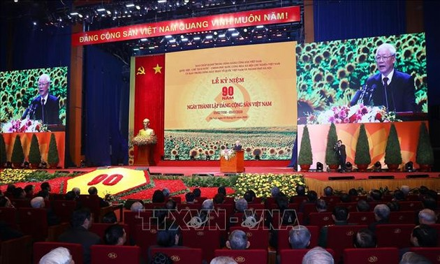 Grand meeting marks 90th founding anniversary of Communist Party of Vietnam