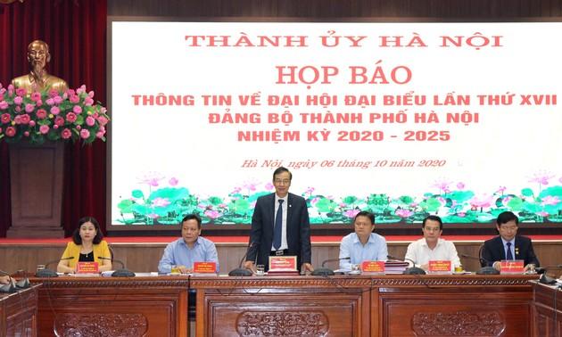 Hanoi ready for 17th municipal Party Congress