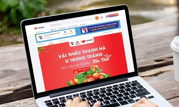 Vietnam farm produce on sales on e-commerce platforms
