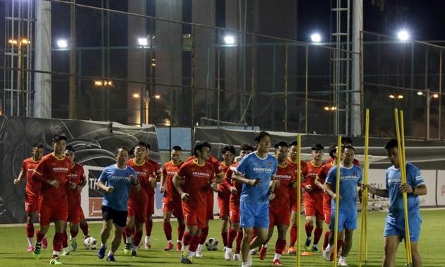Vietnam national squad train hard in Saudi Arabia ahead of World Cup qualifiers