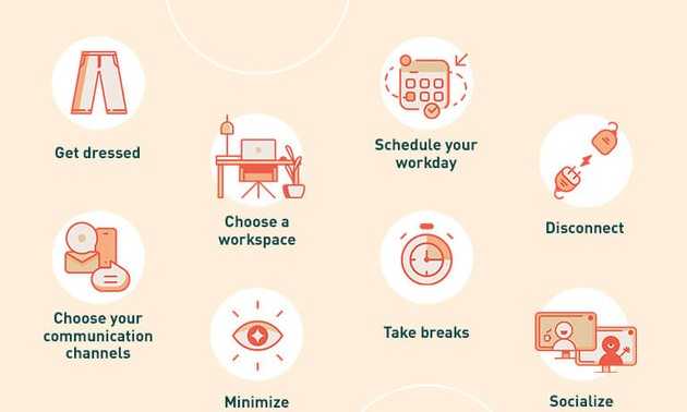 Tips for working effectively and safely from home during the pandemic