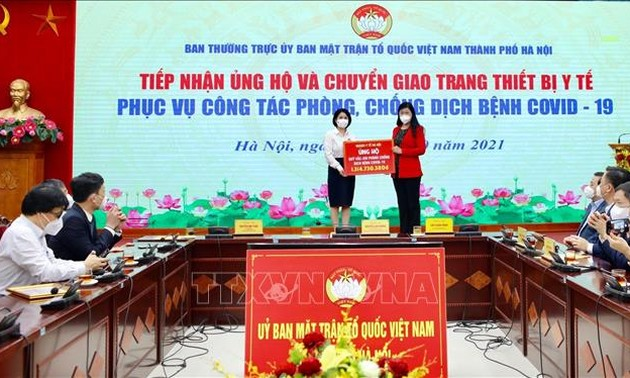 Hanoi receives donations, medical equipment to fight COVID-19