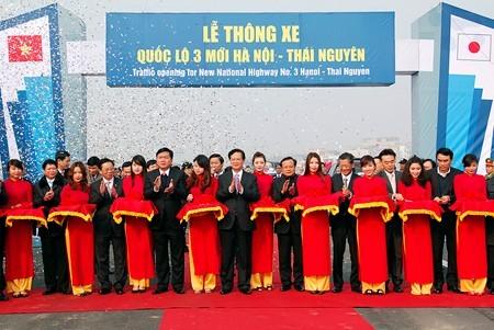 Mise en service de la nouvelle nationale 3 Hanoï-Thai Nguyên