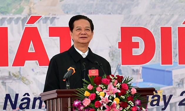 Le 1er turbo-alternateur de la centrale hydroélectrique de Lai Chau en service