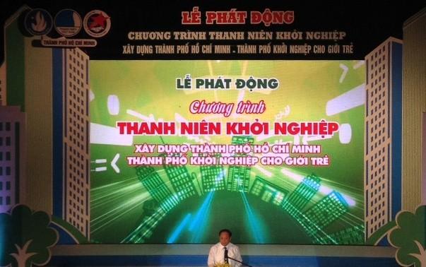 Meresmikan Pusat promosi start-up dan kreatif Sai Gon