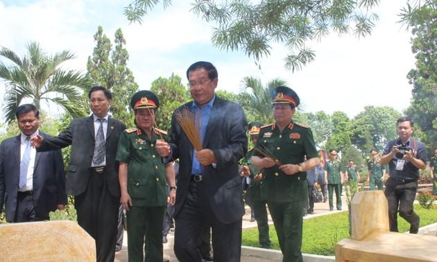 PM Kamboja, Samdech Hun Sen mengunjugi situs peninggalkan sejarah pasukan 125 di provinsi Dong Nai