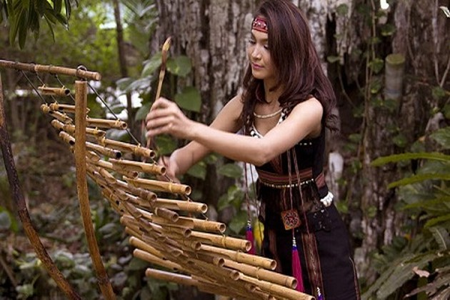 Kekhasan instrumen musik dari bambu di Vietnam