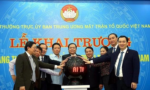 Meresmikan Portal elektronik Front Tanah Air Viet Nam