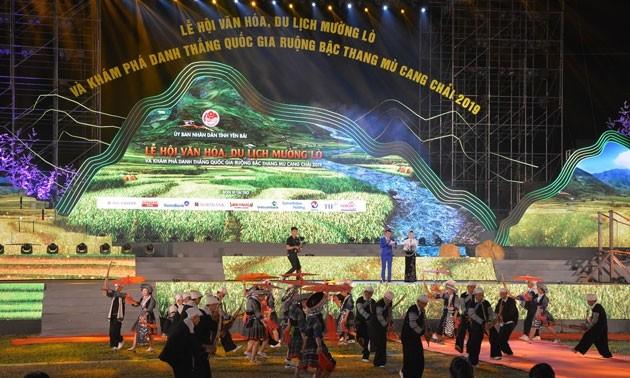 Pembukaan Festival Kebudayaan dan Pariwisata Muong Lo dan menguak tabir pemandangan alam nasional sawah terasering Mu Cang Chai tahun 2019