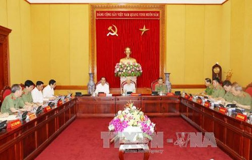 Servicio de Seguridad Pública de Vietnam evalúa sus labores en lo que va del año