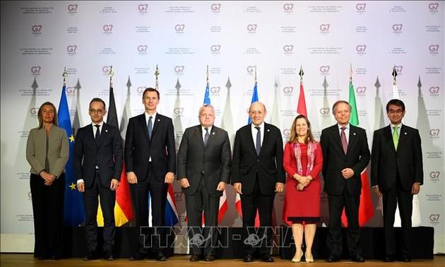 Emiten declaración conjunta de cancilleres del G7 sobre temas globales
