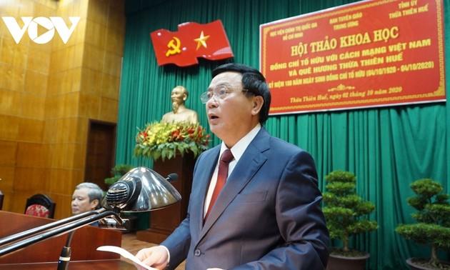 Efectúan conferencia científica sobre el poeta To Huu