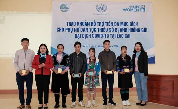 ONU Mujeres ayuda a pobladores de Lao Cai afectados por el covid-19