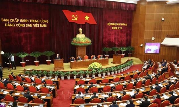 Inauguración de la segunda Conferencia del Comité Central del PCV en su XIII mandato