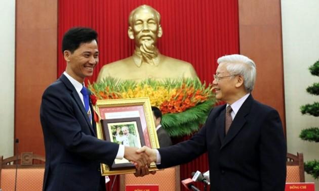 """Nguyen Trong Thai, minero """"Héroe del Trabajo"""" de Quang Ninh"""