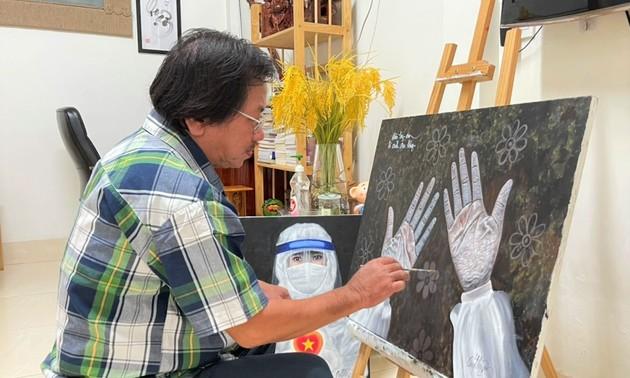 Artistas del delta del río Mekong sumados a la lucha contra el covid-19
