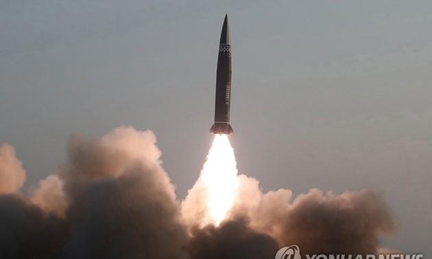 朝鮮、弾道ミサイルを連続で発射