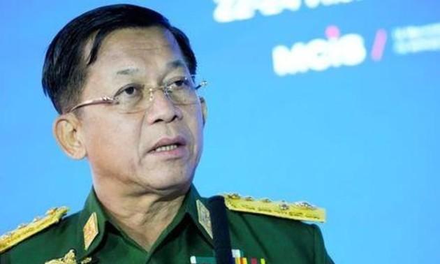 ミャンマー暫定政府設置 国軍トップが暫定首相に