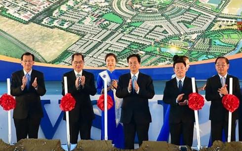 PM Vietnam, Nguyen Tan Dung menghadiri acara memulai pembangunan Proyek Zona Industri, Perkotaan dan Jasa VSIP Nghe An