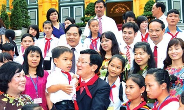 President Sang: best conditions to be set for education development