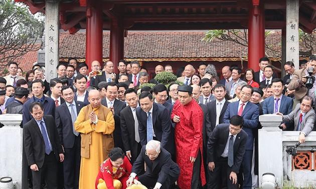 Nguyên Phu Trong au programme « Le printemps dans mon pays natal »