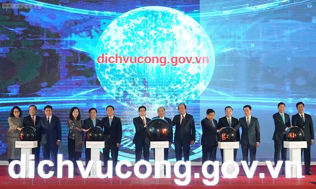 Inauguration du portail électronique national du service public