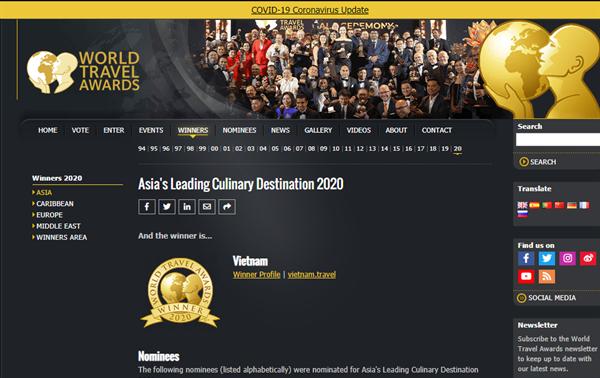 World Travel Awards 2020: le Vietnam récompensé dans trois catégories