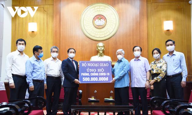 Covid-19: le ministère des Affaires étrangères fait un don