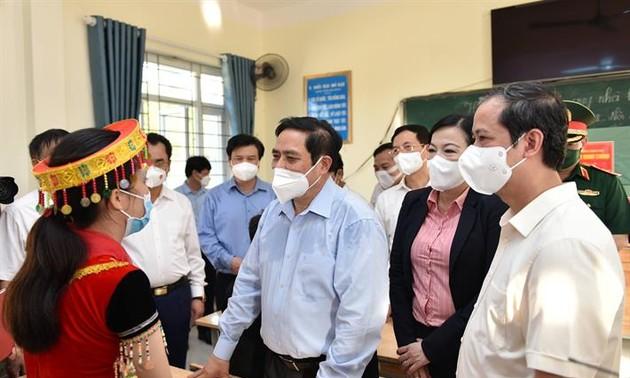 Déplacement de Pham Minh Chinh à Thai Nguyên