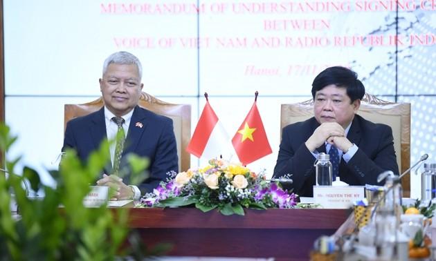 VOV và RRI ký thỏa thuận hợp tác mới, góp phần vun đắp tình hữu nghị Việt Nam – Indonesia